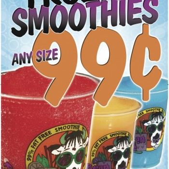 "Caribbean Creme 12 Oz for 99 Cents Poster (24"" x 36"")"