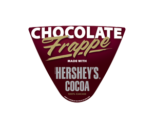 Chocolate Frappe made with Hershys Cocoa Frozen Drink Flavor